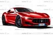玛莎拉蒂全新跑车Alfieri渲染图曝光,有望2020年发布/纯电驱动