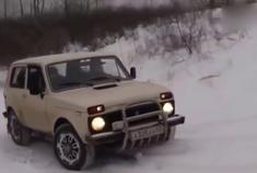 国产车陆风X9在国外表现不错,PK俄军拉达越野车爬雪坡完胜