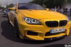 黄色的暴力怪兽!宝马BMW 650i MD宽体跑车