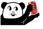 大哥抽烟熊猫头表情包无水印完整图片