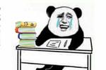 我和假期之间就隔着一沓作业!金馆长熊猫人头斗图表情包搞笑图片图片