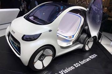 奔驰EQ概念车展会失约,这款smart依然可爱,只是它不需要司机了