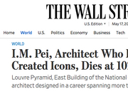 华裔建筑大师贝聿铭去世 各大外媒这样评价他