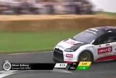 索尔伯格驾驶雪铁龙DS3拉力赛车,500+马力配合4WD的确不好驾驭