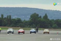 迈凯轮vs保时捷vs 奥迪vs尼桑,这场超跑直线加速赛真是太给力了