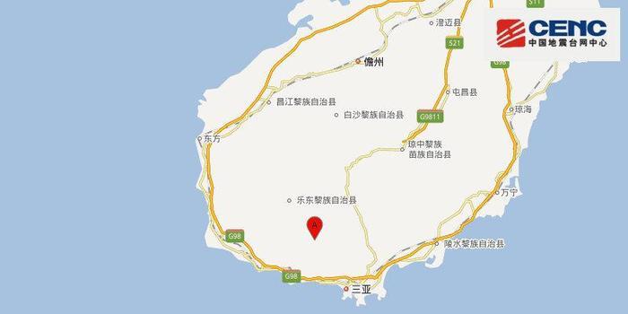 海南三亚市天涯区发生3.4级左右地震