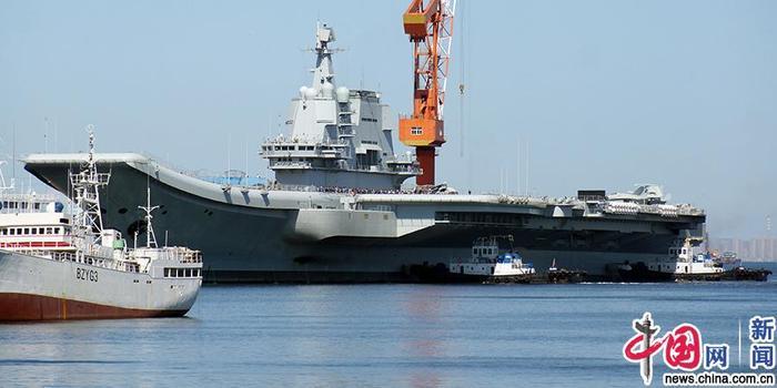 首艘国产航母完成第七次海试 返回大连造船厂(图)