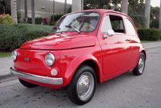 我比楼上那位还要可爱!1971款 菲亚特 500 红色