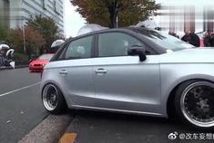 奔驰E级改超跑,底盘贴地,车轮超斜,这造型是不是很炫酷?