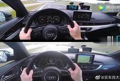 奥迪A4、A6一起上高速,深深的一脚油门,才知道差距在哪