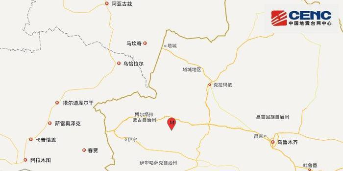 新疆精河县发生3.1级地震 震源深度7千米