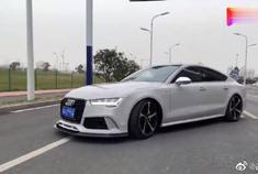 奥迪A7改装后现身街头,外观更具轿跑特征!