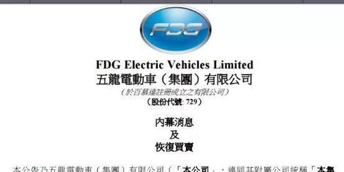 五龙电动车董事长遭李嘉诚讨债 公司急澄清:与我无关