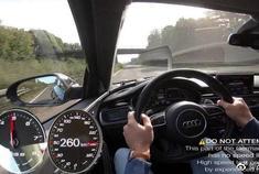 爆改奥迪RS6!德国无限速公路AUTOBAHN!但是感觉还没到极限啊!