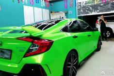 给思域换个颜色,会很亮眼,这亮丽的绿色你觉得怎么样?
