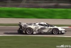 刹车盘跑得发红的法拉利FXXK EVO,这速度真的是非常快了啊!