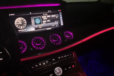 奔驰E级刚提车,内饰64色氛围灯漂亮