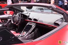 2019法兰克福车展:实拍2020兰博基尼Huracan Evo Spyder