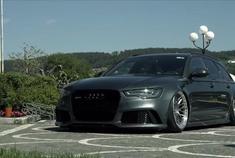 奥迪RS6 Avant C7低趴姿态改装