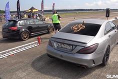 1000匹的哥斯拉-奔驰CLS63 AMG vs 700HP 奥迪RS3 Sportback