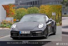 最大600马力?保时捷新911 Turbo敞篷版谍照