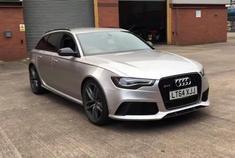 Audi RS6,这颜色看起来很有气质