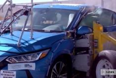 2020款日产轩逸侧面碰撞测试,看完之后轩逸车主默默的点了赞