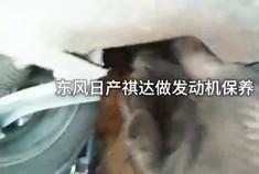 东风日产骐达做个发动机保养和更换一个发动机后机脚胶