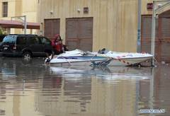 Heavy rains hit Kuwait