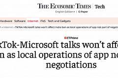 印媒:微软谈判收购TikTok,不会影响印度禁令