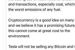 马斯克:已暂停使用比特币支付 正考虑使用其他加密货币