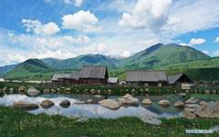 Scenery in Hemu Village of Kanas, Xinjiang