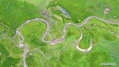 Scenery of Awancang Wetland in Gansu