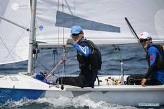 Chinese sailors attend training session at Enoshima Yacht Harbour, Japan