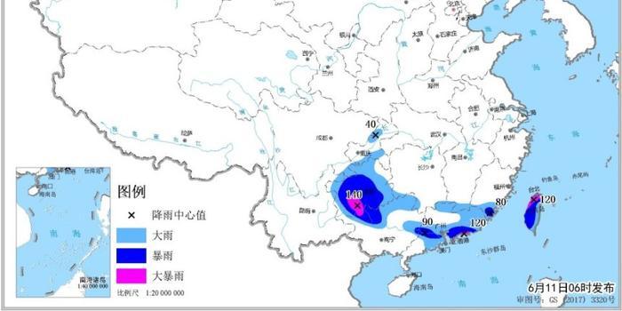 今日黔桂粤等地大雨滂沱 未来三天东北华北多阵雨