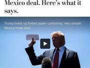 特朗普在白宫对记者一掏兜