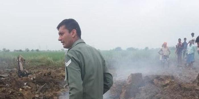 印度空軍一架米格-21戰機墜毀