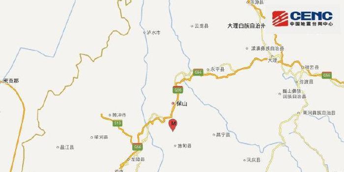 云南保山市施甸县发生3.4级地震
