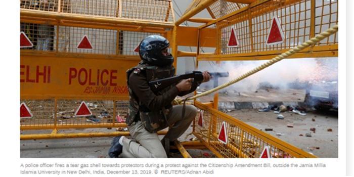 <b>印度警方向抗议者开枪?印军方回应</b>
