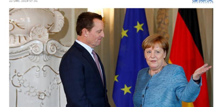 美驻德大使称制裁俄对欧洲非常有利 俄媒呛
