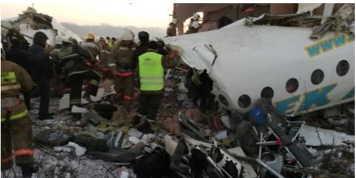 哈薩克斯坦載100人客機撞入一幢二層建筑 7人死亡