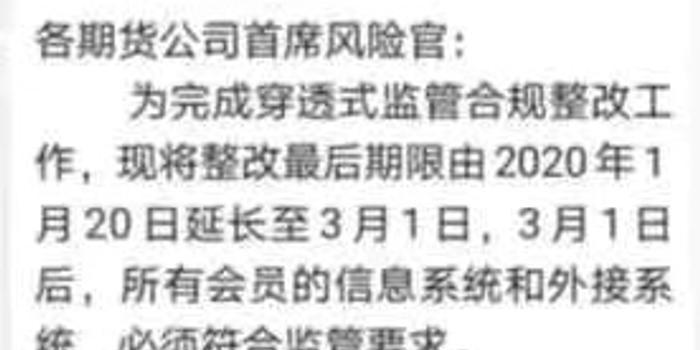 文华财经称新方案符合要求 三大期交所延长整改期限