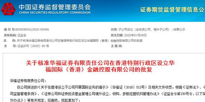 券商出海成潮:又一券商香港子公司获批