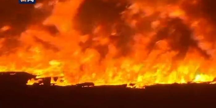 尼日利亚一输油管道爆炸 已致5死现场火光冲天