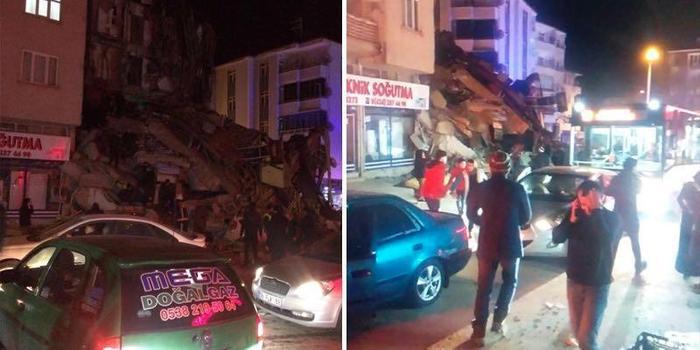 土耳其东部埃拉泽省发生6.8级地震 已致14人死亡
