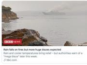 澳大利亚迎降雨降温 但野火危机还将持续数月