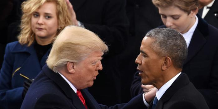 争功!奥巴马自夸任内成就 特朗普:骗人,是我的功劳
