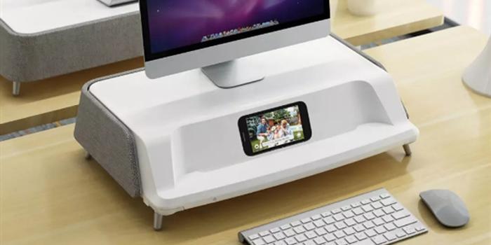 小米有品上架办公显示器增高杀菌消毒台
