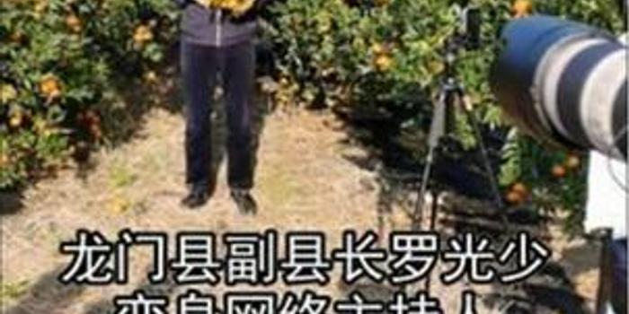 """广东龙门副县长变身""""网络主播""""推销年桔引关注"""