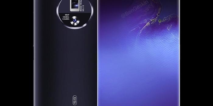 或将搭屏下摄像头 vivo APEX 2020非官方渲染图曝光